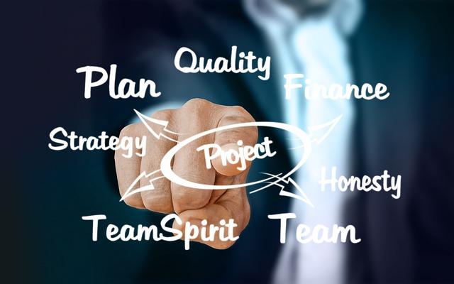 Imagen sobre las distintas categorías en las que se puede dividir un proyecto.