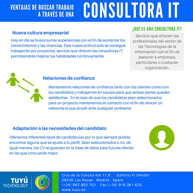 ventajas buscar trabajo con una consultora IT